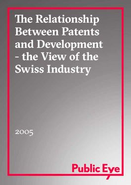 Cover page: The relationship between patents and development