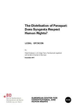 Cover page: The Distribution of Paraquat: Does Syngenta Respect Human Rights?