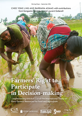 Couverture du rapport: Farmers' Right to Participate in Decision-making