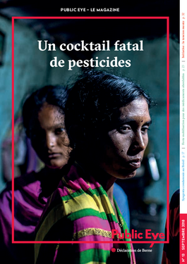 Couverture du rapport: Un cocktail fatal de pesticides