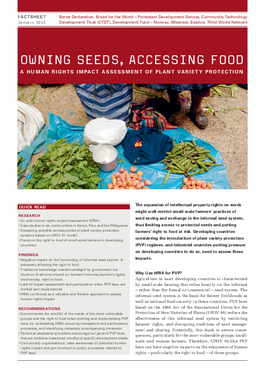 Cover page: Owning Seeds, Accessing Food