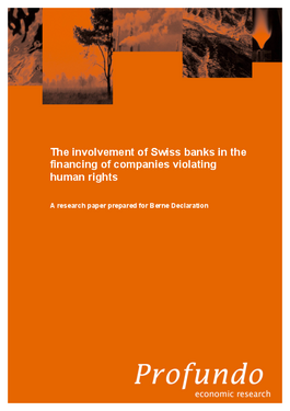 "Cover page: Update of the study ""Swiss banks and human rights"""