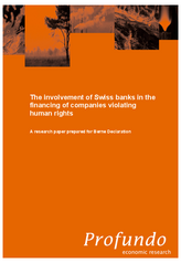 "Update of the study ""Swiss banks and human rights"""