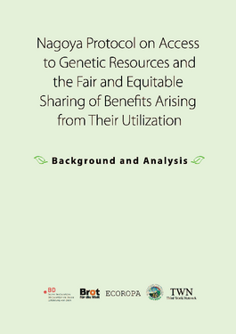 Cover page: Nagoya Protocol: Access to Genetic Resources, Sharing of Benefits