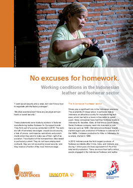 Couverture du rapport: No excuses for homework