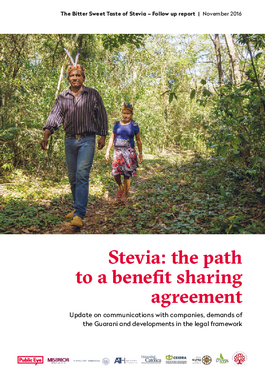 Cover page: Stevia: the path to a benefit sharing agreement