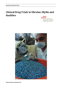 Cover page: Clinical Drug Trials in Ukraine