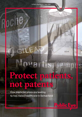 Cover page: Protect patients, not patents
