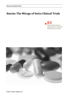 Cover page: Russia: The Mirage of Swiss Clinical Trials