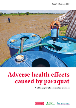 Cover page: Adverse Health Effects Caused by Paraquat