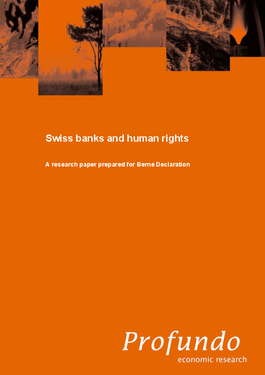 Cover page: Study: Swiss banks and human rights
