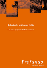 Study: Swiss banks and human rights