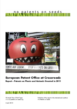 Cover page: European Patent Office at Crossroads