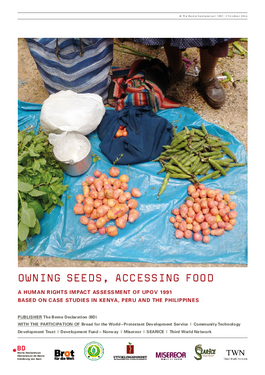 Couverture du rapport: Owning Seeds, Accessing Food