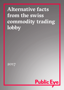 Couverture du rapport: Alternative Facts from the Swiss Commodity Trading Lobby