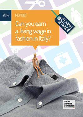 Cover page: Can you earn a living wage in fashion in Italy?