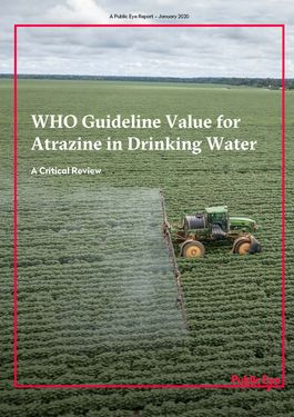 Cover page: WHO Guideline Value for Atrazine in Drinking Water