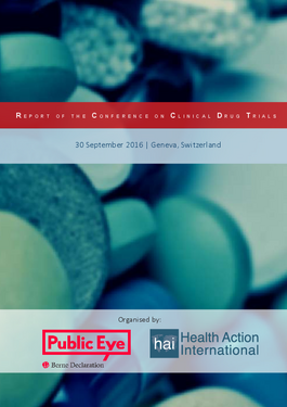 Couverture du rapport: Clinical Drug Trials: Conference Report 2016
