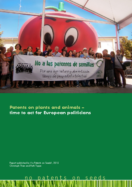 Couverture du rapport: Patents on plants and animals