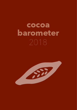 Cover page: Cocoa barometer 2018
