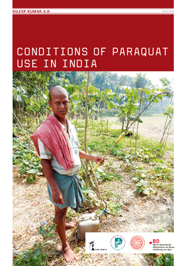 Couverture du rapport: Conditions of Paraquat Use in India