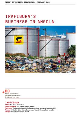 Cover page: Trafigura's Business in Angola